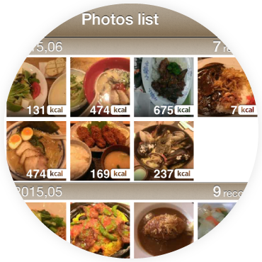 Meal record with pictures
